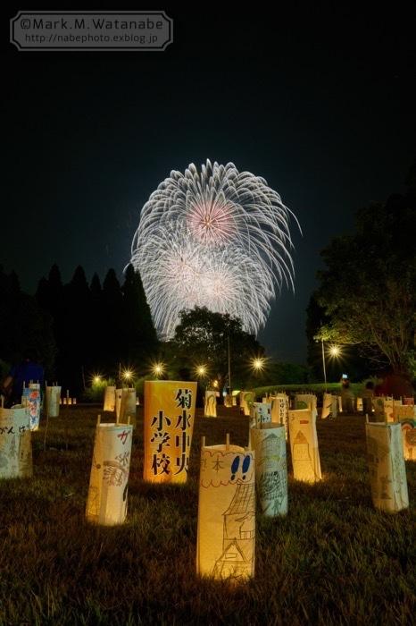 第48回和水町古墳祭の花火_e0135098_01360637.jpg