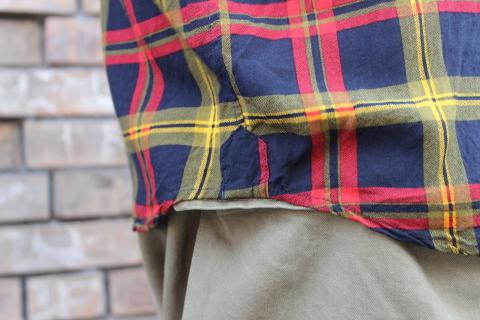 "「dip」\""珍しい素材にチェック柄のシャツアイテム\"" ご紹介_f0191324_08540075.jpg"