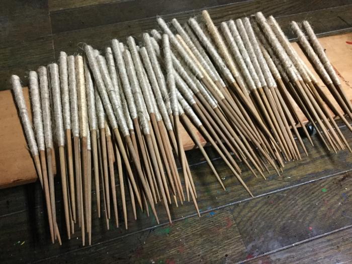 麻糸巻箸の素地作り_e0130334_22110104.jpg