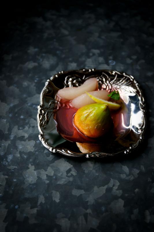 イチジクと梨のコンポート 日本酒  お昼寝アート マーメイド_d0034447_19543542.jpg