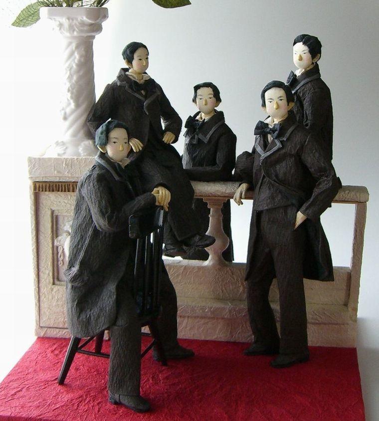 『 幕末・明治維新 創作和紙人形展』_e0122219_17144638.jpg