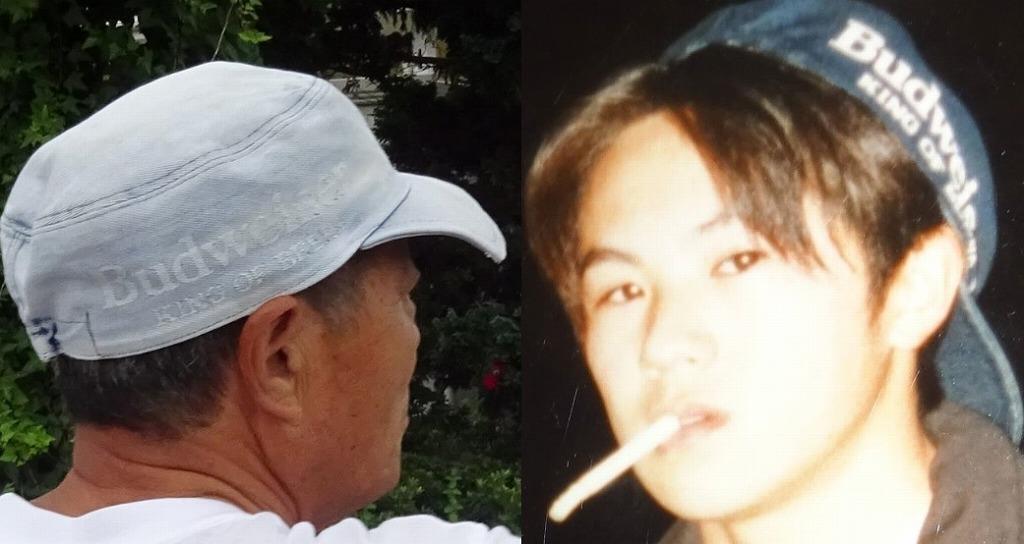 高校の頃にかぶっていた帽子を、今は父親が!_d0061678_09412442.jpg