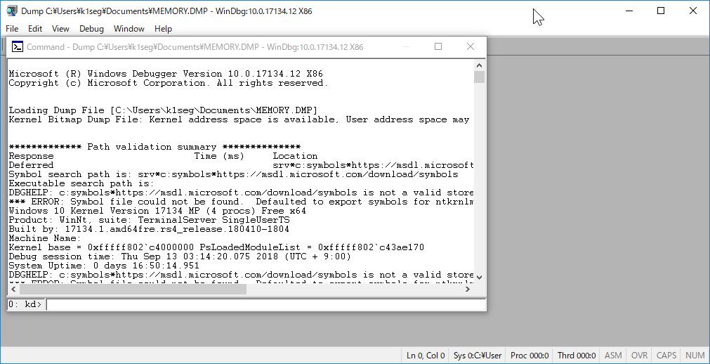Windows10 クラッシュダンプ 解析 - 死のBSOD画面の新しいQRコード (9/13)_a0034780_05343817.png