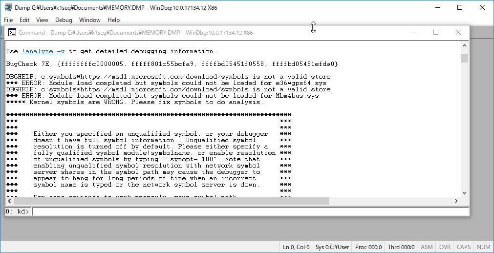 Windows10 クラッシュダンプ 解析 - 死のBSOD画面の新しいQRコード (9/13)_a0034780_05551590.png