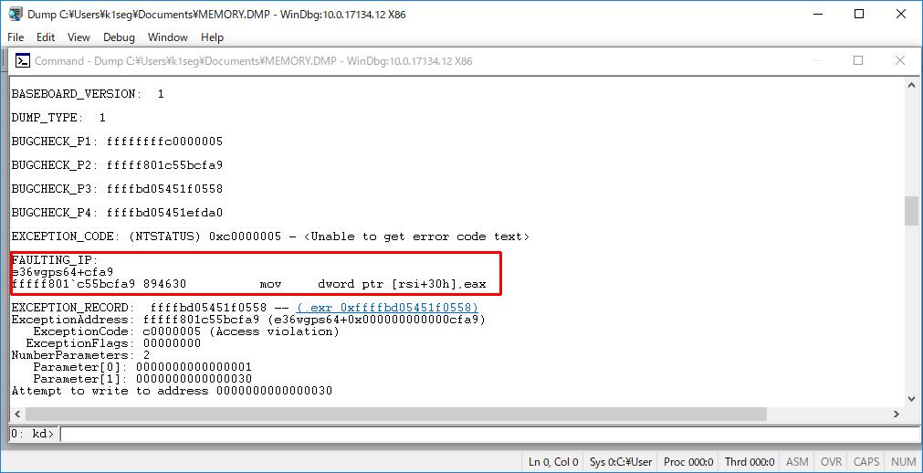 Windows10 クラッシュダンプ 解析 - 死のBSOD画面の新しいQRコード (9/13)_a0034780_06485031.png