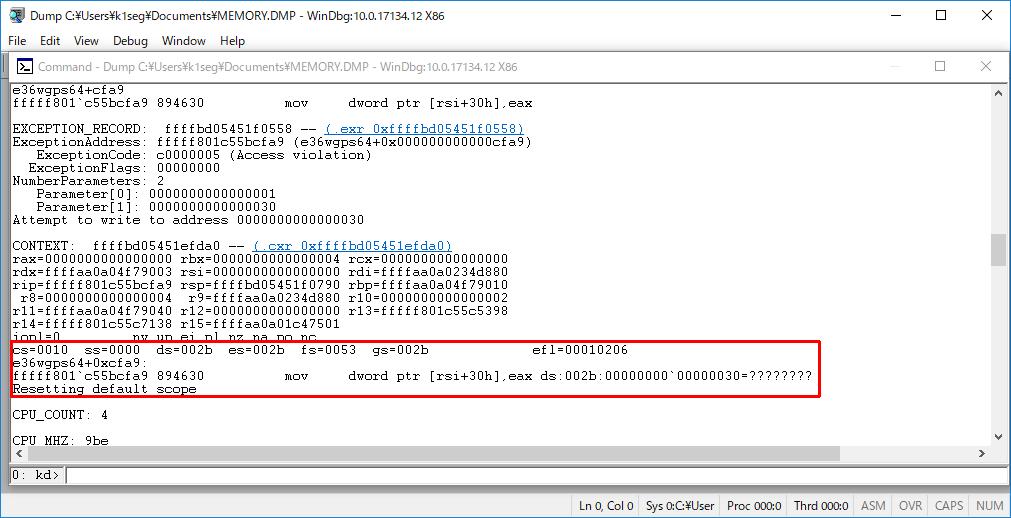 Windows10 クラッシュダンプ 解析 - 死のBSOD画面の新しいQRコード (9/13)_a0034780_06492234.png