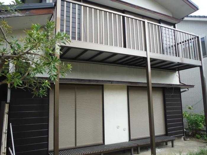 空き屋リフォーム ~玄関、戸袋など塗り替えして終了になりました。_d0165368_07395392.jpg