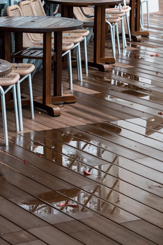 雨のオープンテラスと 沖縄スズメウリ_a0261169_21494007.jpg