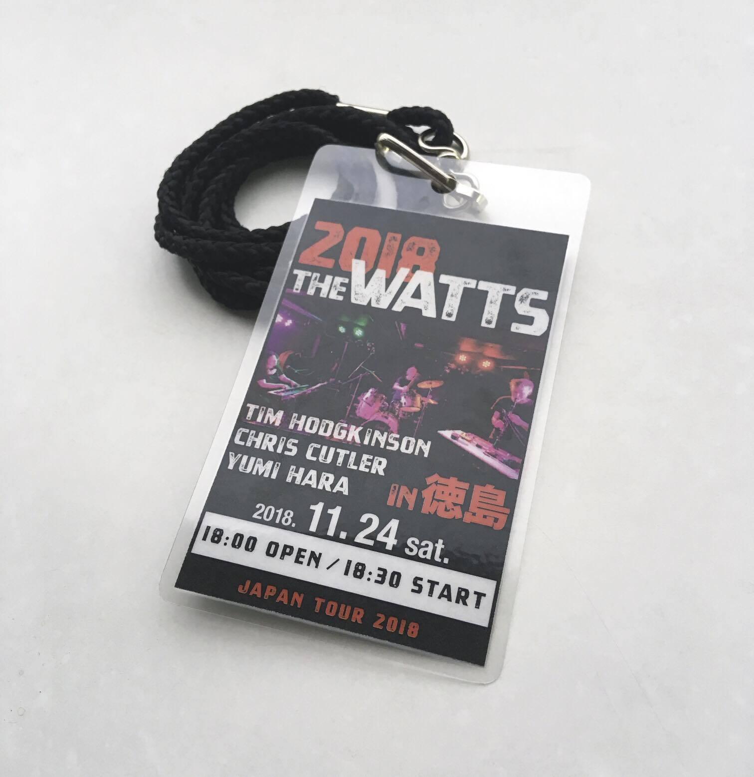 THE WATTS (ティム・ホジキンスン、クリス・カトラー、ユミ・ハラ)日本ツアー2018 総合情報アップデートページ_c0129545_00595843.jpg