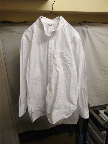 洗ってみました / anotherline roundcollar b.d. shirt_e0130546_15585401.jpg