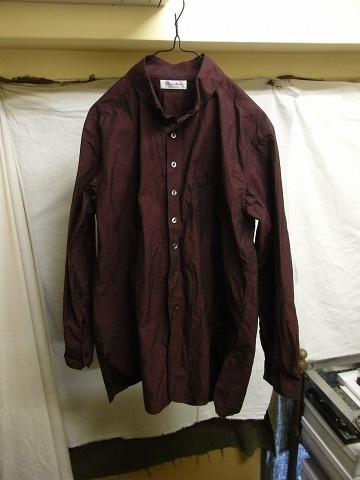 洗ってみました / anotherline roundcollar b.d. shirt_e0130546_15595058.jpg