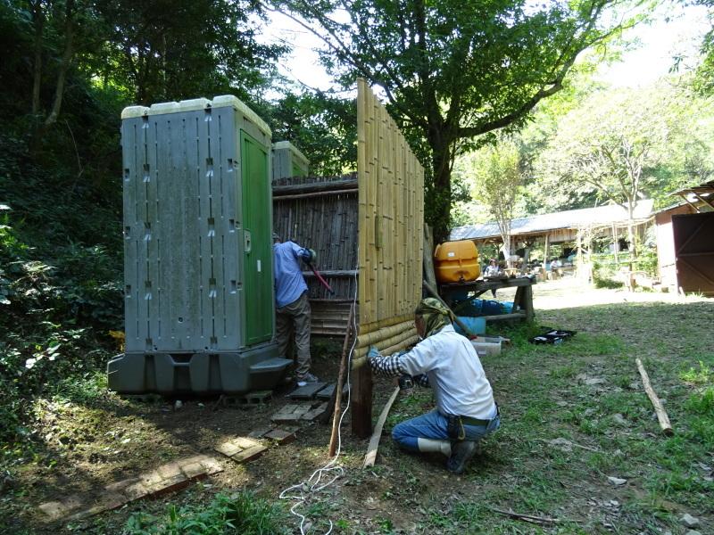 台風被害の復旧作業継続・・・孝子の森_c0108460_18004594.jpg