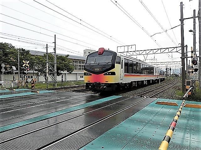 藤田八束の鉄道写真@青森で見つけた花園と貨物列車絶好のコラボトライアングル地帯・・・トライアングル地帯の鉄道写真_d0181492_23405768.jpg