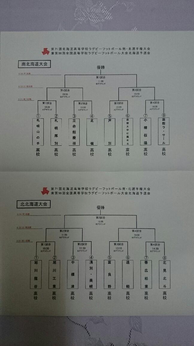 全道大会1日目 - 旭川龍谷高校 ラグビーフットボール部