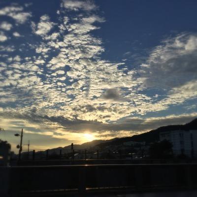 ☆芦屋川からの夕陽_d0035397_18054145.jpeg