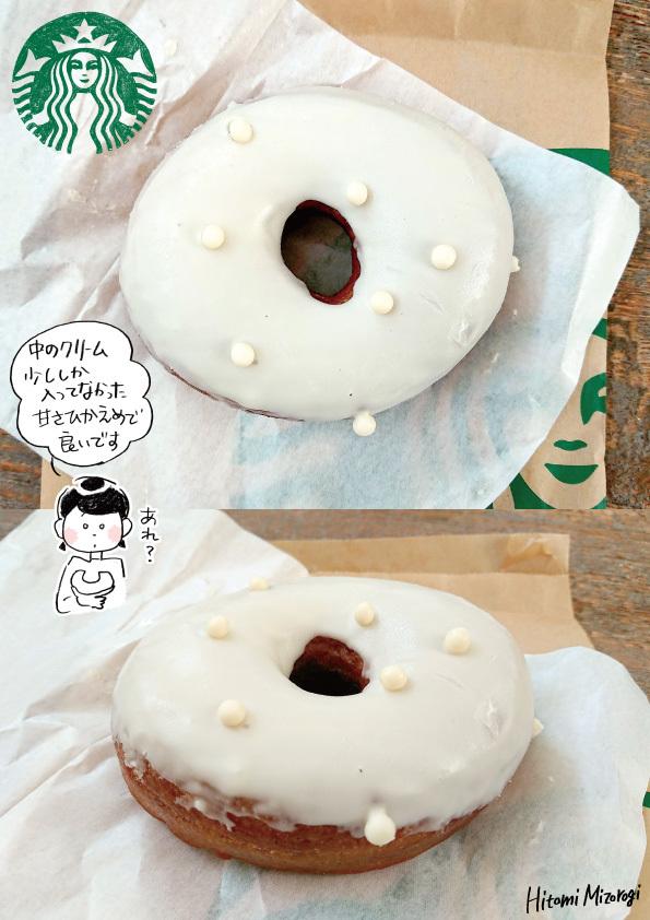 【カフェのドーナツ】スターバックスコーヒー「ミルククリームドーナツ」【クリーム少なかった…】_d0272182_22461140.jpg