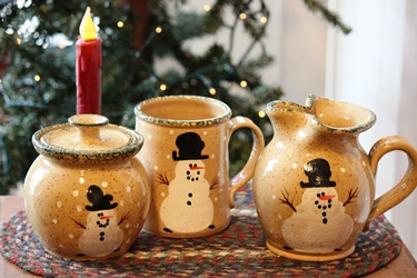 Three Rivers Pottery のスノーマンポタリー_f0161543_14381690.jpg