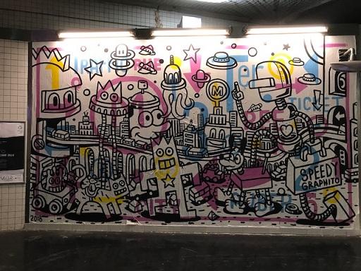 岡田その子・型絵染の帯・パリの地下鉄・赤い元気バッグ_f0181251_15202770.jpg