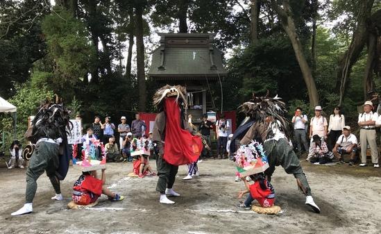 18.09.23(日) 奉納 いなざき獅子舞・和泉鳥見神社例大祭_f0035232_2024550.jpg