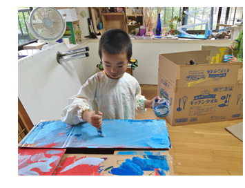 段ボールでおうち作り・幼児クラス(上高野)_f0211514_11523844.jpg