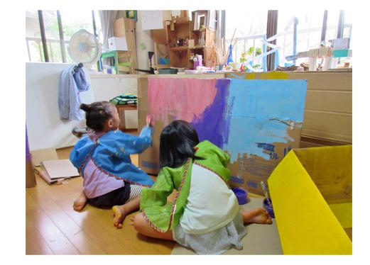 段ボールでおうち作り・幼児クラス(上高野)_f0211514_11530615.jpg