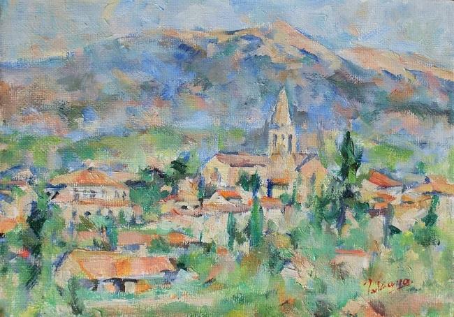 マザンの教会とヴァントゥー山_c0236929_23354815.jpg