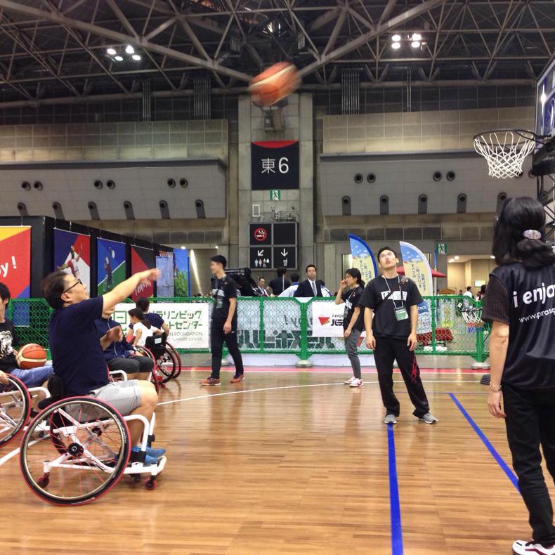 ツーリズムEXPOで車椅子バスケが楽しかった_c0060143_18551123.jpg