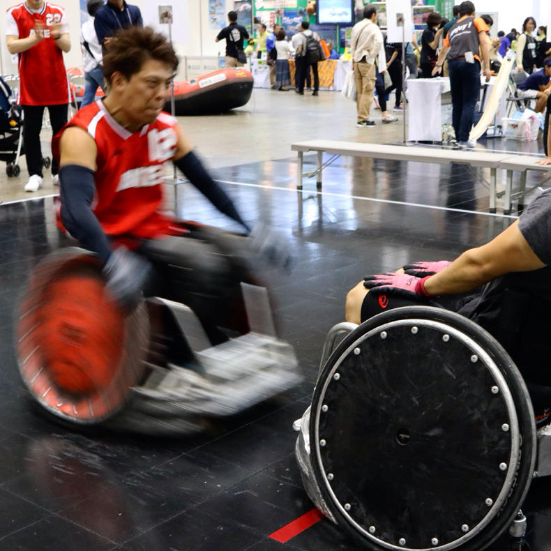 ツーリズムEXPOで車椅子バスケが楽しかった_c0060143_18552050.jpg