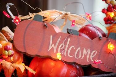 秋のテーブルデコレーションとパンプキン柄のポタリー_f0161543_1516209.jpg