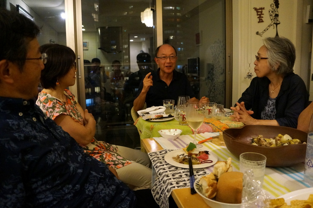 友人たちと横浜のMちゃん家で(9/23)_c0180686_07585615.jpg