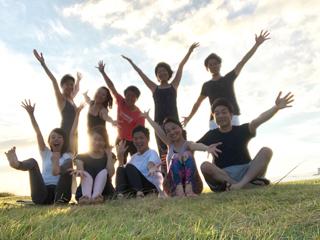 Beach mayu yoga2018 今年もありがとう!_a0267845_17372018.jpg