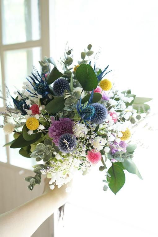 #小花を束ねたクラッチブーケ!_a0136507_21334372.jpg
