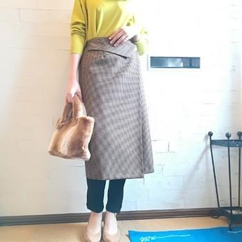 ★おすすめ千鳥格子スカート★【米子店】_e0193499_18412886.jpg