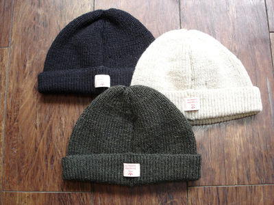 "NEW : Nigel Cabourn ""AUTHENTIC"" [PLAIN BEANIE] & [EMBROIDED BROAD ARROW BEANIE] 2018FW !!_a0132147_19322124.jpg"