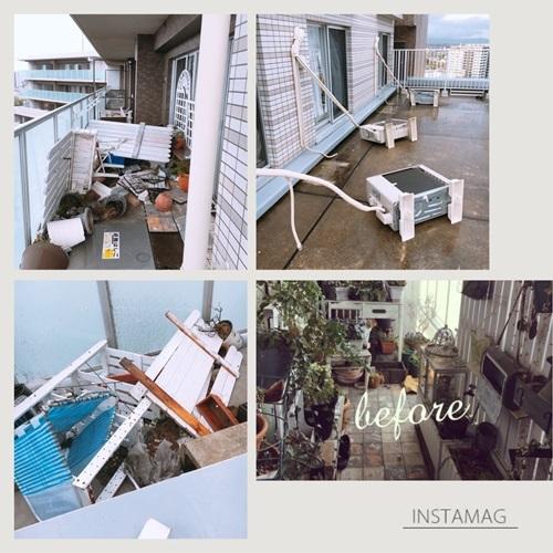 台風対策 21号で恐怖を味わったので、今回は徹底的に!_e0237680_14050328.jpg