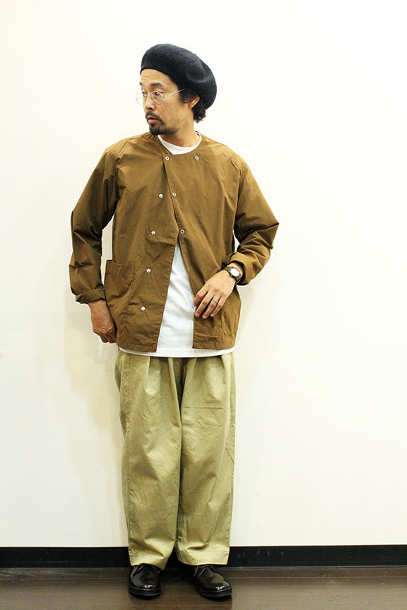 MANUAL ALPHABET (マニュアル アルファベット) WAX WEATHER SHT CARDIGAN_b0122806_12555337.jpg