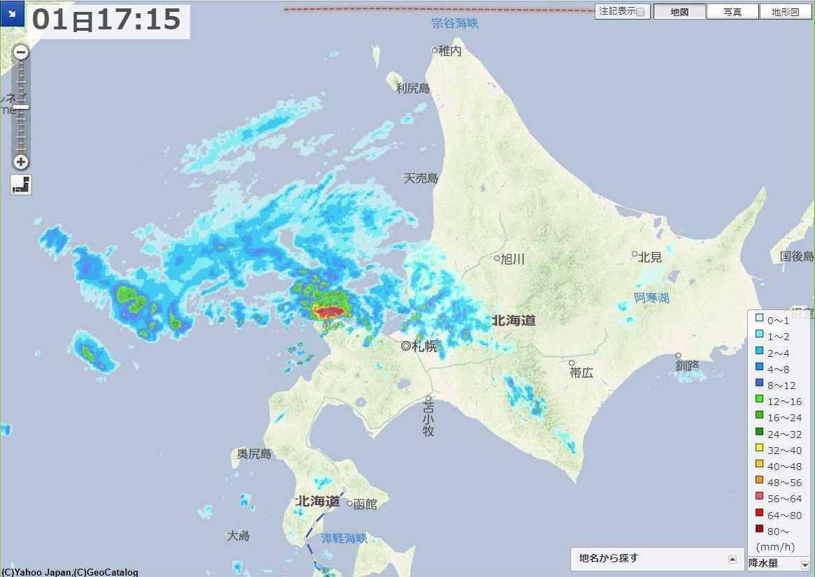 台風去って天候不安定な北海道_c0025115_22230387.jpg