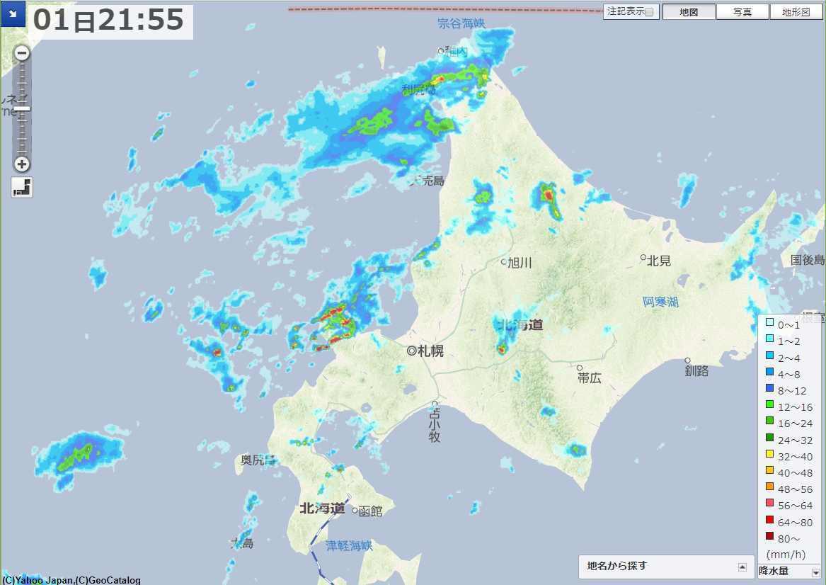台風去って天候不安定な北海道_c0025115_22331017.jpg