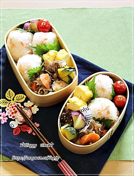 鮭むすび弁当とパン焼き・ミニクッペ♪_f0348032_17185883.jpg