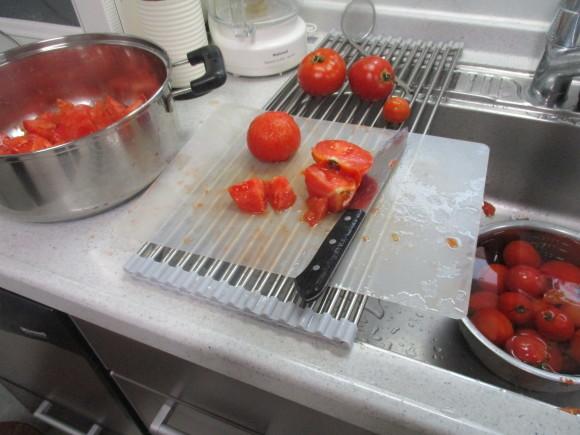 葡萄の収穫&トマトソース作り_a0279743_10343457.jpg
