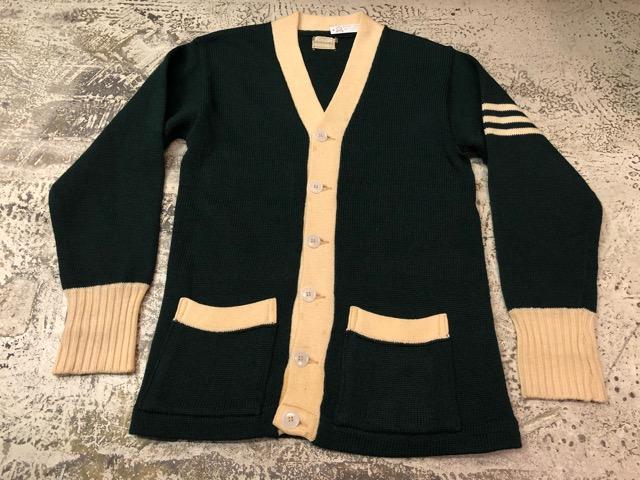 10月3日(水)大阪店冬物ヴィンテージ入荷!#8 アスレチックニット編!!Lettered Cardigan&Sweater!!_c0078587_2365322.jpg