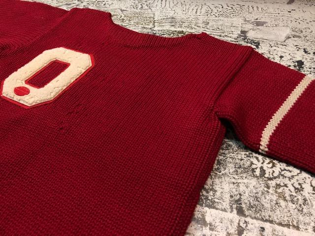 10月3日(水)大阪店冬物ヴィンテージ入荷!#8 アスレチックニット編!!Lettered Cardigan&Sweater!!_c0078587_2401012.jpg