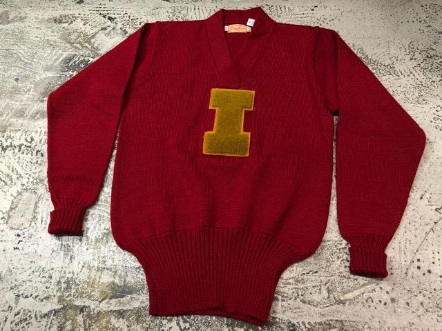 10月3日(水)大阪店冬物ヴィンテージ入荷!#8 アスレチックニット編!!Lettered Cardigan&Sweater!!_c0078587_2402532.jpg