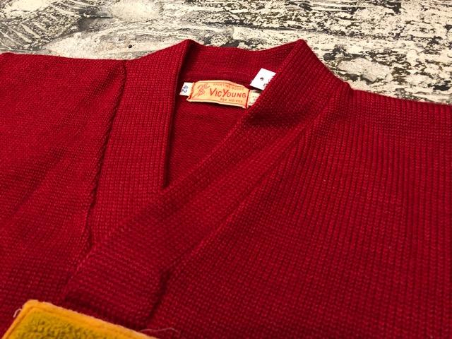 10月3日(水)大阪店冬物ヴィンテージ入荷!#8 アスレチックニット編!!Lettered Cardigan&Sweater!!_c0078587_2404724.jpg
