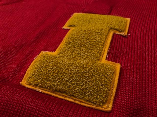 10月3日(水)大阪店冬物ヴィンテージ入荷!#8 アスレチックニット編!!Lettered Cardigan&Sweater!!_c0078587_2405587.jpg