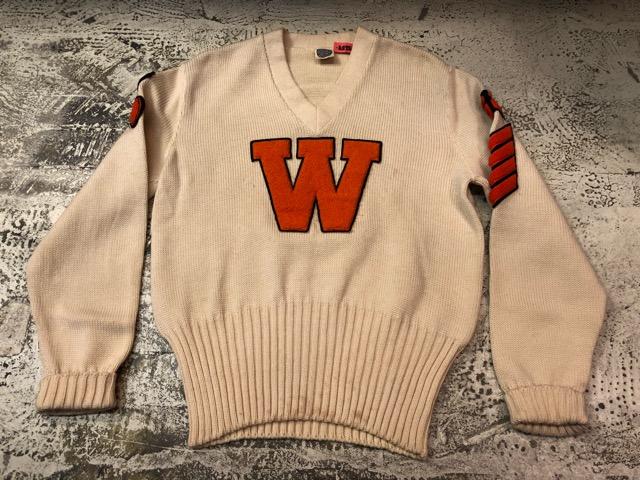 10月3日(水)大阪店冬物ヴィンテージ入荷!#8 アスレチックニット編!!Lettered Cardigan&Sweater!!_c0078587_2422451.jpg