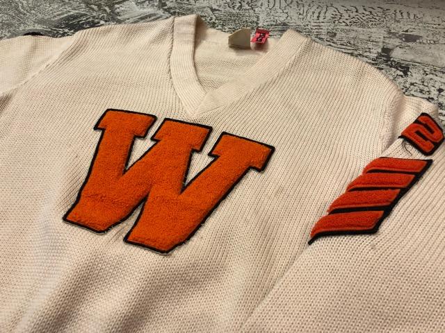 10月3日(水)大阪店冬物ヴィンテージ入荷!#8 アスレチックニット編!!Lettered Cardigan&Sweater!!_c0078587_2432752.jpg