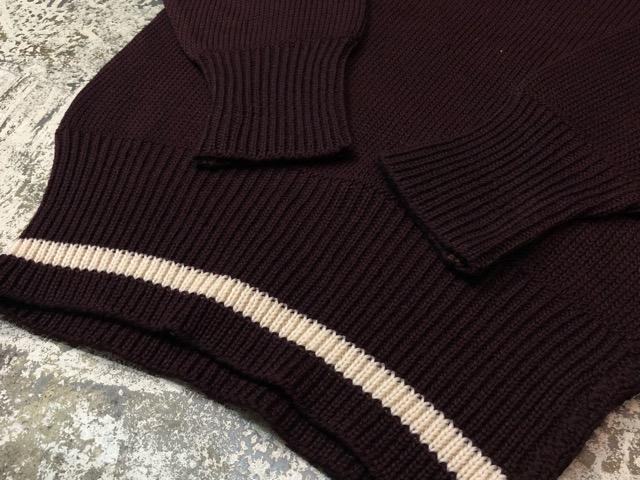 10月3日(水)大阪店冬物ヴィンテージ入荷!#8 アスレチックニット編!!Lettered Cardigan&Sweater!!_c0078587_2441629.jpg