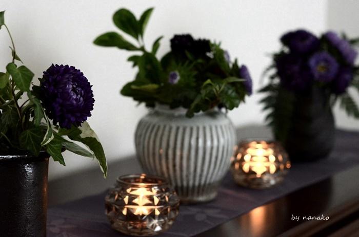 秋の花を飾る。_c0364500_01543812.jpg