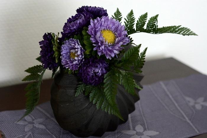 秋の花を飾る。_c0364500_01553696.jpg